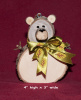 Extra Large Wood Disk Bear Ornament
